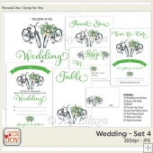 Floral Watercolor Wedding Invitation Set 4