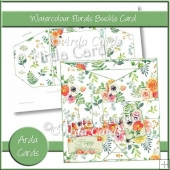 Watercolour Florals Buckle Card