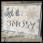 3d Eclipse Card - Christmas Let It Snow