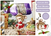 Mrs Christmas Sloe Gin Mouse 8x8 With Insert