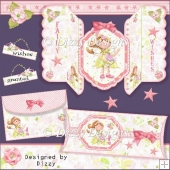 Fairy Wishes Card Kit with freebie Pillow Box