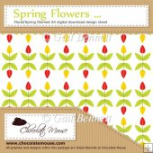 Spring Flowers - Floral/Spring themed A4 Digital Design Sheet