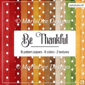 Be Thankful A4 size Digital Papers Package 1