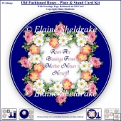 Old Fashioned Roses - Plate Card Kit With Plate Stand