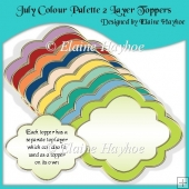 July Double Layer Shaped Toppers