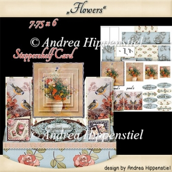 Stepper Shelf Card Flowers