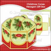 Christmas Cones Hexagon Gift Box