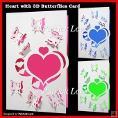 Heart with 3D Butterflies Card