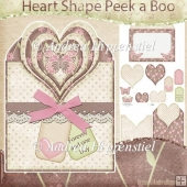 Heart Shape Peek a Boo Card Softlove