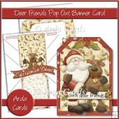 Deer Friends Pop Out Banner Card