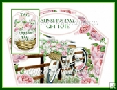 Sunshine Day Gift Tote and Tag Set