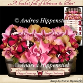 Basket shape card hibiscus