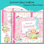 Sweetest Day Cardfront with Decoupage