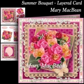 Summer Bouquet Layered Card