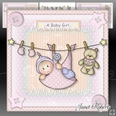 Baby Girl Washing Line Mini Kit