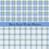 Blue Plaid Papers