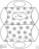 Nan Floral Digitally Stamped Purse Pillow Box