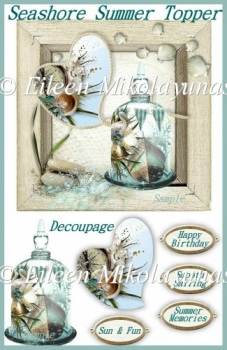 Seashore Summer Topper with Decoupage