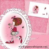 RTP Oval Frilly Die Cutting Sassy Flower Girl(Retiring in August