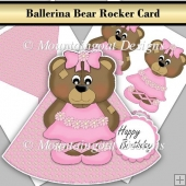 Ballerina Bear Rocker Card