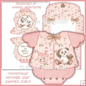 Pandapaws Matinee Suit Shaped Card