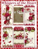 Whispers of the Heart Cottage Chic Valentine Tags
