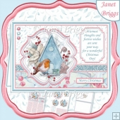 ROBIN & BIRDHOUSE Christmas A5 Pyramage & Insert Kit