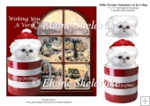 White Persian Christmas Kitten Cat In A Mug