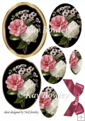 pink and white wild roses oval pyramids