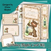 Birthday Tipple Offset Gatefold Card Kit