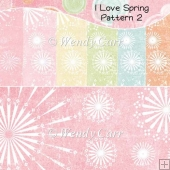 I Love Spring Papers - Pattern 2 (Retiring in August)