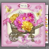 Pink & Yellow Barrow Mini Kit Birthday/ Mothers Day