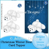 Christmas Winter Bear Card Topper/Front