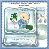 Fishing Bear Shaped Easel Card Kit
