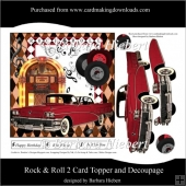 Rock & Roll 2 Card Topper and Decoupage