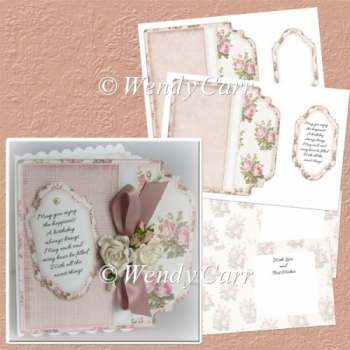 RTP Fancy Edge Sq Card Rose Creation (Retiring in August)