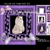 Persian Cat Frame Mini Kit