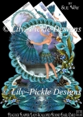 Peacock Flapper Lady Scalloped Round Easel Card Mini Kit