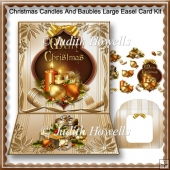 Christmas Candles And Baubles Large Easel Card Kit