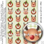 2 A4 Papers-Christmas-Reindeer and Wreath
