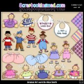 Wee Ones Clipart Graphics Download