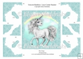 Unicorn Rainbow Lace Corner Stacker Card Topper