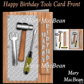 Happy Birthday Tools Card Front