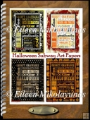 Halloween Subway Art Background Papers Set