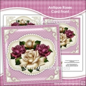 Antique Roses Card Front