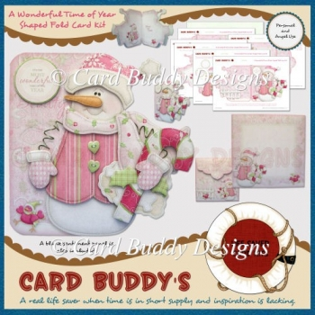 A Wonderful Time of Year Shaped Fold Card Kit