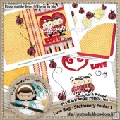 Love Bug - Stationery Folder 2 (5 x 7 in)