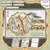 TAKE A WALK ON THE WILD SIDE SAFARI GIRAFFE A5 Pyramage Card Kit
