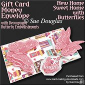 New Home Sweet Home with Butterflies Card/Money Envelope MiniKit