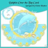 Dolphin Over the Top Card